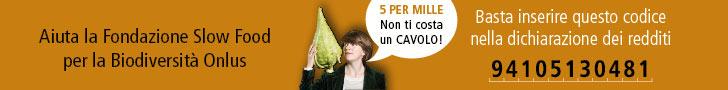 5x1000 Fondazione slow food
